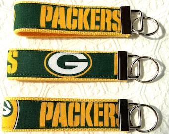Green Bay Packer Key Fob, Key Fob Wristlet, Key Chain, Packer key chain, Christmas gift