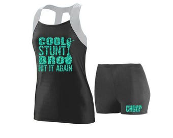 Cheer Practice Set Cool Stunt SILVER TANK