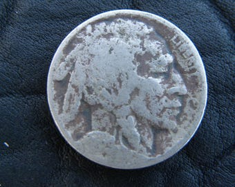 1929  US circulated  authentic vintage Buffalo Indian Nickel coin A130