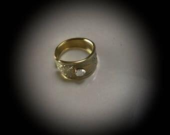 spoon ring Swarovski crystal