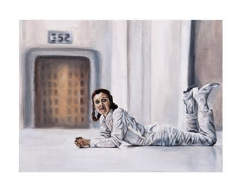 Waiting Around in Cloud City - Princess Leia / Carrie Fisher Empire Strikes Back Star Wars Fine Art Print