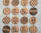 Mix and Match Cork and Felt Coasters