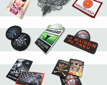 50 custom screen printed patches, patch printing, printed patches