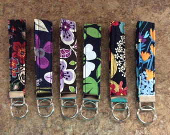 NEW Key Fob Wristlet/Key Chain made w/Vera Bradley Fabric Hand-Crafted ~FREE SHIPPING~