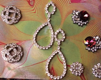 Executive Set of Vintage Rhinestone Earrings for instant collection or BRIDESMAID Gifts