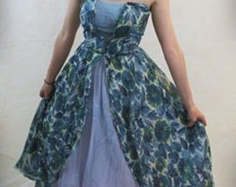 Darling Blue 1950's prom dress