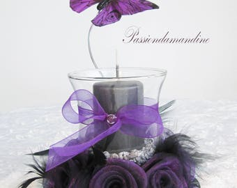 Wedding candle table flowers and Butterfly decoration