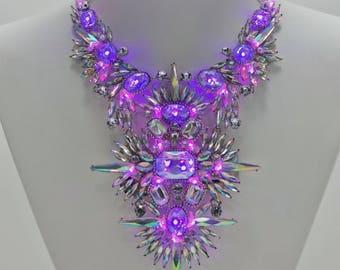 Glowing LED Necklace | Countess Lit