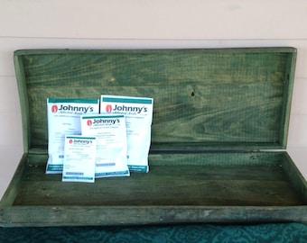 Dovetailed Shallow Box - Hiram Jones, Seymour, Indiana - Rustic Kitchen Decor