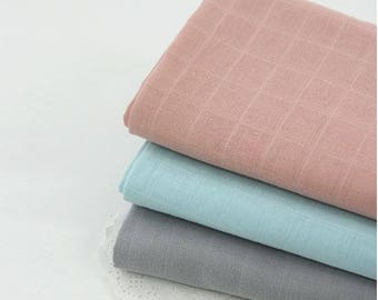 Double Cotton Gauze Fabric by Yard - 3 Colors Selection