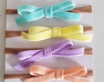 Spring time velvet set of bows
