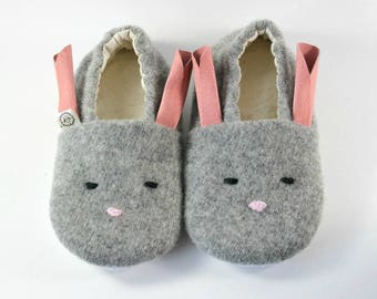 Bunny Slippers- Bunny Costume- Cozy Gift- Animal Slippers- Gift for Kids- Toddler Slippers- Baby Shoes- Baby Bunny Outfit- Bunny- Bunny Ears