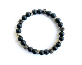 Handmade 6mm Matte Black Onyx Bracelet