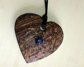 Collier coeur de coco