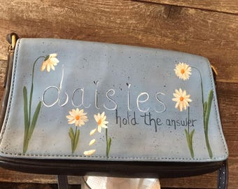 Upcycled Coach Shoulder Bag, Hand Painted Coach Bag, Rescued Coach Bag, Hand Painted Bag, Coach Bag, Upcycled Coach Bag