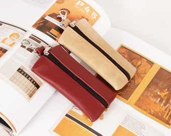 """Leather Key Case """"Marco"""" in various colors, Key Holder, Key Bag, Soft Key Case, Soft Key Bag, Bag for Keys, Key Pouch"""