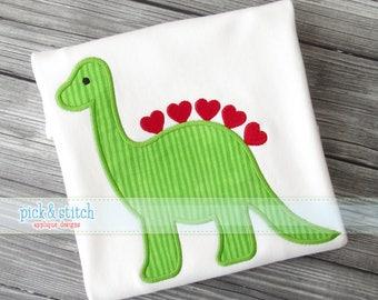 Boy's Valentines Dinosaur T shirt