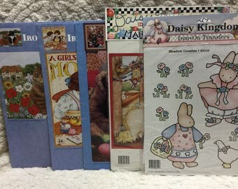Daisy Kingdom Set of (5) Iron On Transfers - All Different!!