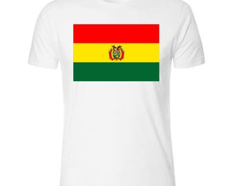 Flag of Bolivia Men's White T shirt