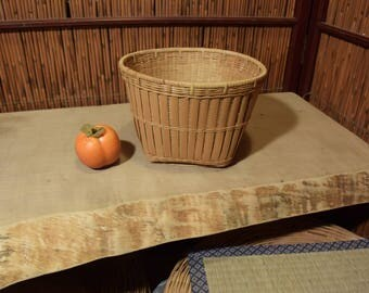 Small  Vintage Chinese Southeast Asian Bamboo Basket