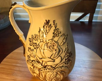 Gold trimmed Pitcher