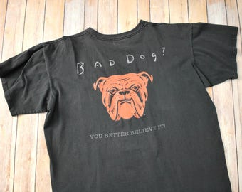 90s RED DOG Beer Distressed T-Shirt TShirt T Shirt Tee // Size Medium Mens Womens // Alcohol Tennessee River 1990s Bad Dog Lover Gift
