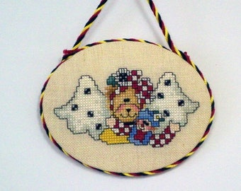 Angel Bear with Doll ornament