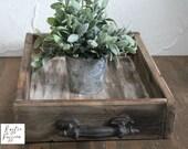 Rustic Wood Tray / Pallet Wood Tray / Kitchen Tray / Ottoman Tray / Farmhouse Tray / Rustic Home Decor / Gray Tray / Neutral Tray  Wood Tray