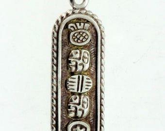 Oro Maya Solid Sterling Silver Pendant, ca.1970