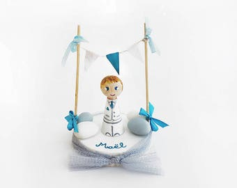 Decorations for Cake baptism toppers - Personalized baptism figurine - Baptism gift - To make personalize