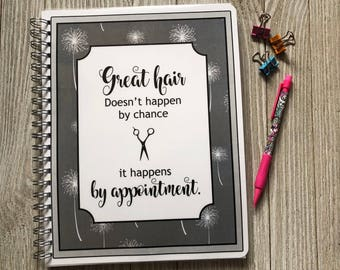Salon Yearly Appointment Book with Income Tracking - Dandelion #2 Design - Personalized