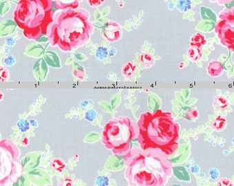 Shabby rose fabric | Etsy : rose quilt fabric - Adamdwight.com