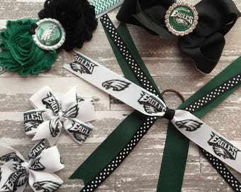 Philadelphia eagles headband – Philadelphia eagles hair bow – Eagles headband – Eagles hair bow – Eagles bowl – Super Bowl champions