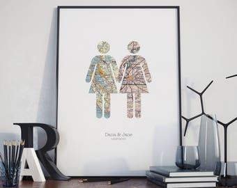 Take My Hand - Girl & Girl / Gay Lesbian Marriage Wedding Engagement Anniversary Print Wall Art Gift Sale