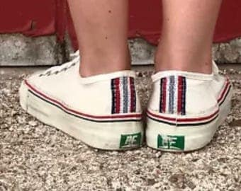 New Kids Vintage Dead Stock Converse PF Canvas Low Top 1970's 1960's Unisex Youth Shoe USA Size 13.5, 12, 1.5