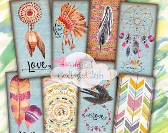 80 % off Graphics SaLe Love Boho 1 x 2 Digital Collagee Sheet Digital Images for Pendants, Jewelry Making Rectangle Domino Images Instant Do