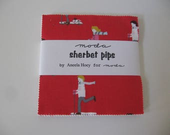 Charm Pack Sherbet Pips, Aneela Hoey for Moda,  OOP