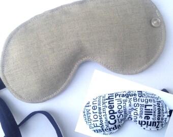 Linen Travel Sleep Mask