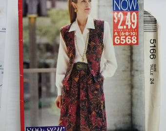 Butterick See & Sew Pattern Size 6-10  #6568