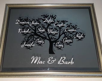 Beautiful Family Tree Mirror