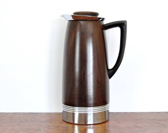 Coffee Maker Glass Lined Carafe : Brown faux bois Etsy