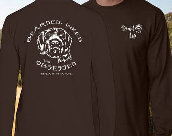 """Draht Life """"Bearded, Inked and Obsessed"""" long sleeve t-shirt."""
