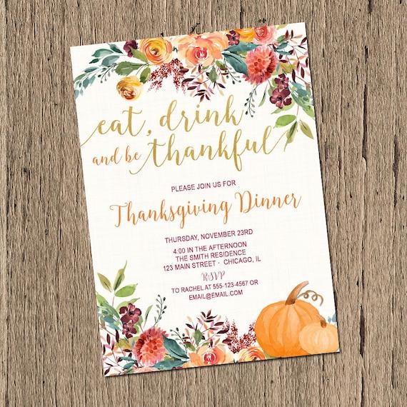 Thanksgiving invitation thanksgiving dinner invitations eat – Thanksgiving Invitations