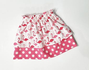 Pink Flamingo Skirt - Flamingo Outfit - Flamingo Birthday - Baby Flamingo Outfit  - Birthday Girl Outfit - Toddler Birthday Skirt
