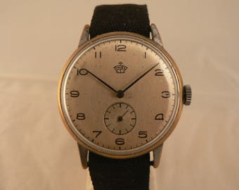 Vintage Thiel Wrist Watch 15J Bauhaus Germany Ca 1930's