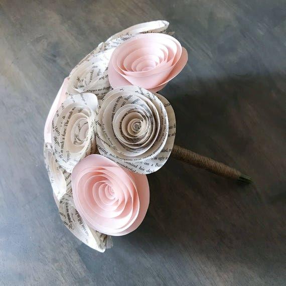 Paper Flower Bouquet - Wedding Bouquet Alternative - Wedding Bouquet ...
