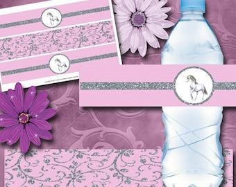 Unicorn Bottle Labels Instant Download Printable Unicorn Bottle Labels