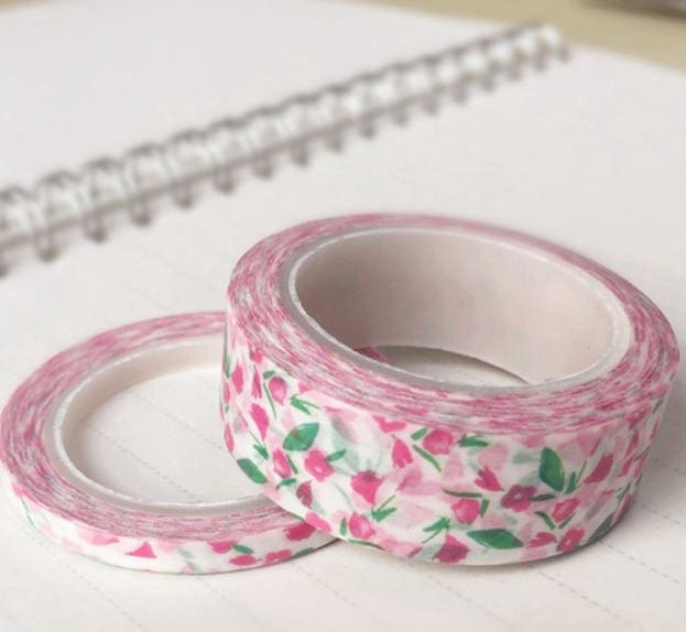 matching 2 rolls of masking tape liberty washi tape pink flowers liberty from lapaqueterie on. Black Bedroom Furniture Sets. Home Design Ideas