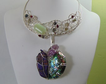 Eve's Apple 3 in One Sterling Silver Brutalist Necklace