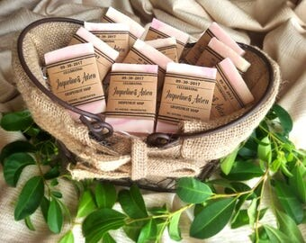 Soap Wedding Favors, Bridal Shower Favors, Baby Shower Favors, Natural Soap, wedding favors, rustic wedding favor, mini soaps, personalized